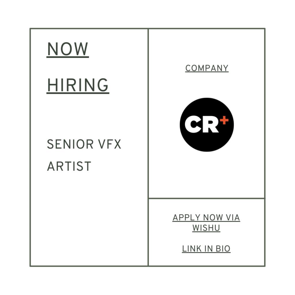 Creative Recruitment looking for senior sfx artist 3d artist - creative jobs