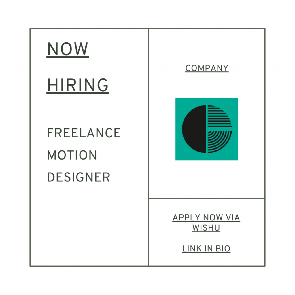Creative Job for freelance motion 3d designer graphic designer london