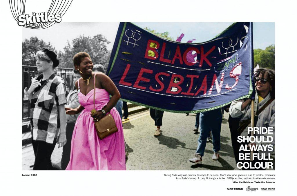 Skittles pride campaign black lesbians