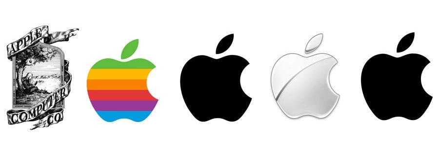 APPLE logo transformation design branding