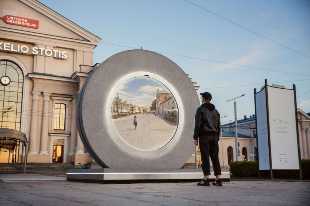 Lithuania's capital city Vilnius has built a 'portal' to connect residents to another 'portal' in Poland's Lublin in response to travel restrictions.